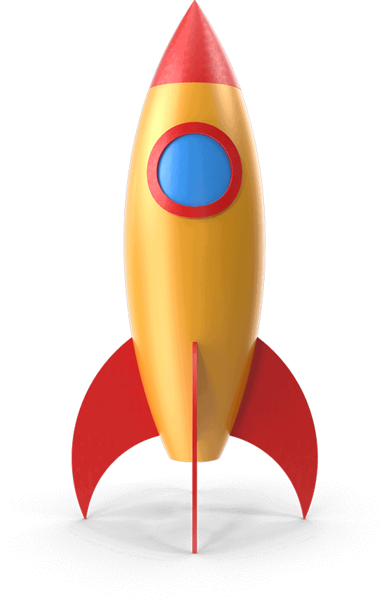 rocket ship moving up to best ecommerce marketing